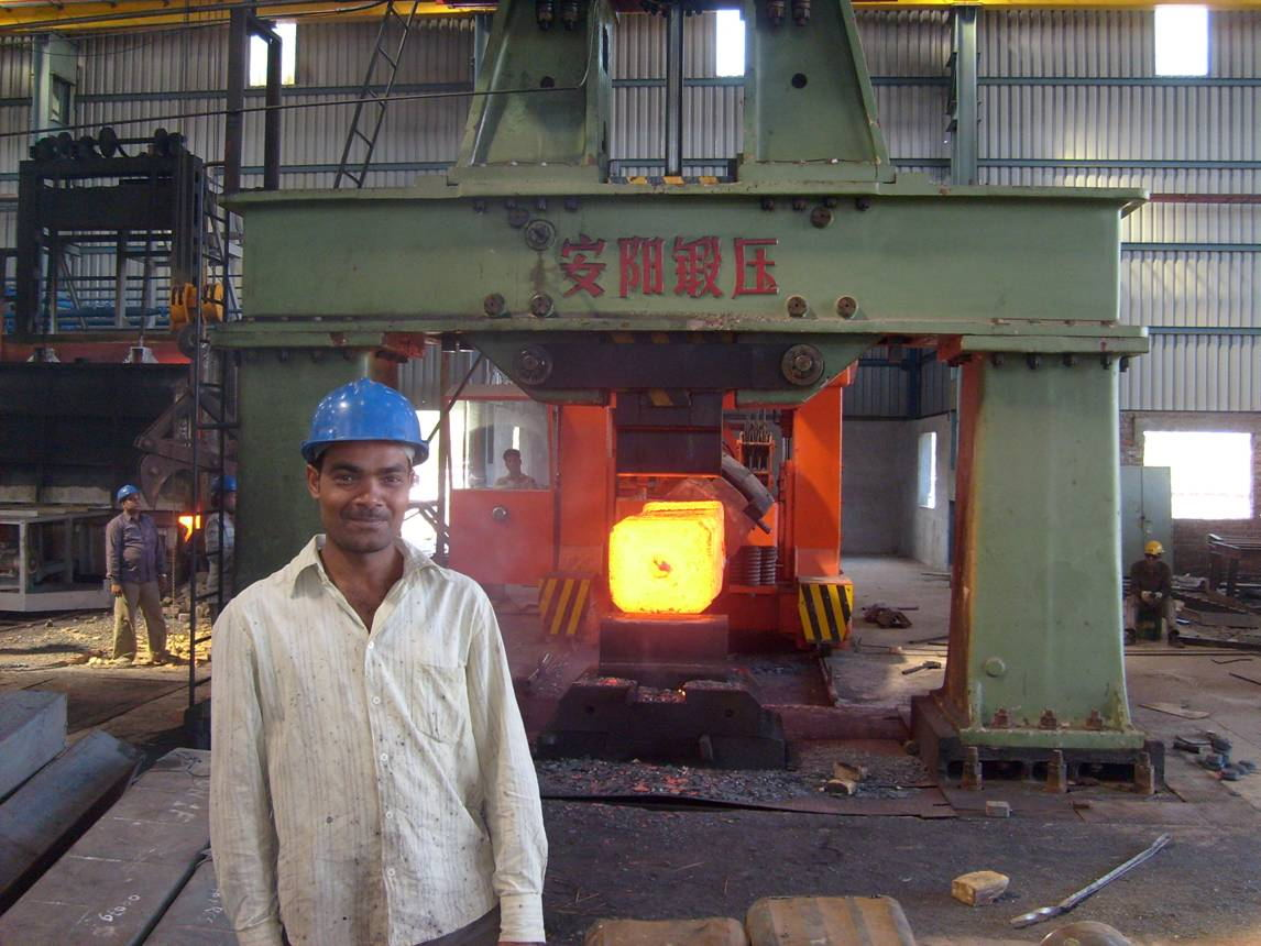 5T open die forging hydraulic hammer used in India