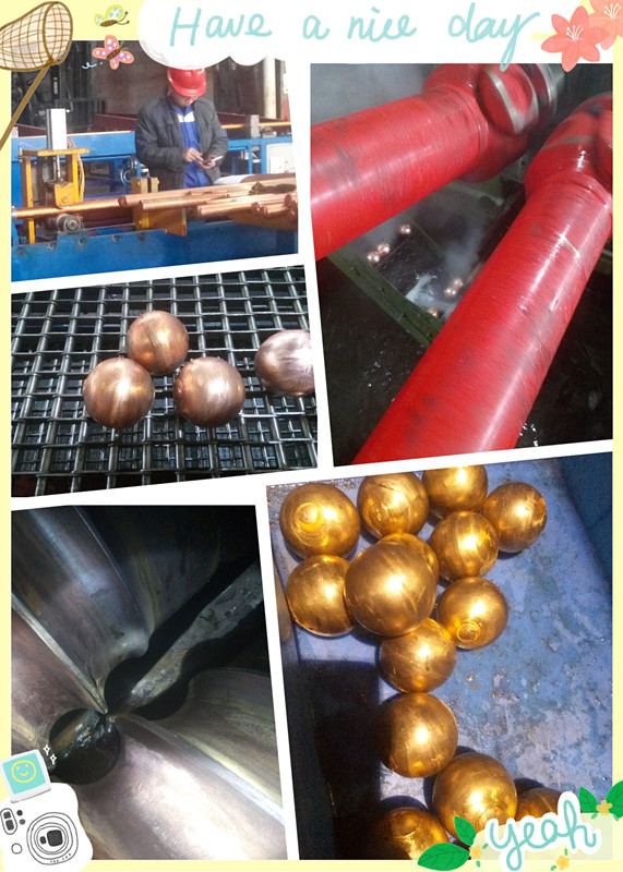 copper ball production line on skew rolling machine