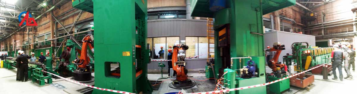 automatic electric screw press forging line in Russia