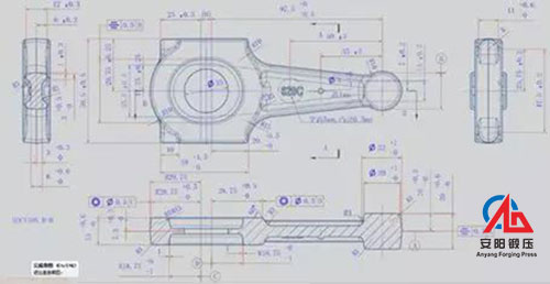 connecting rod die design drawing