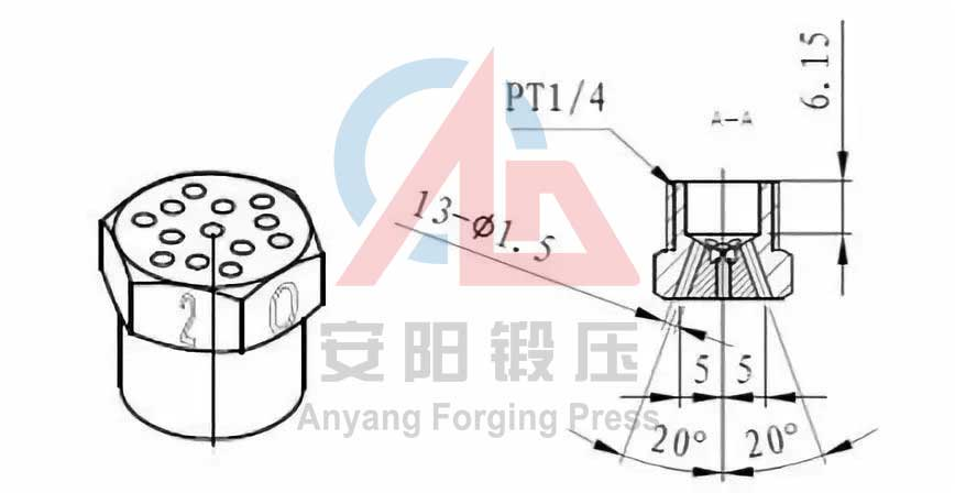 claw pole forging lubrication equipment