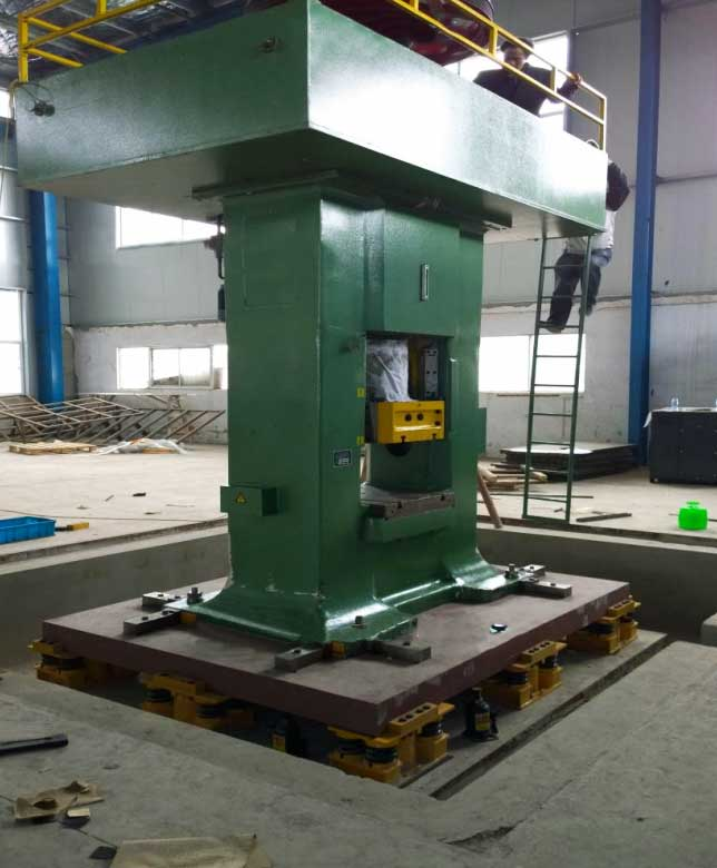 vibration absorber foundation degign for electric screw press