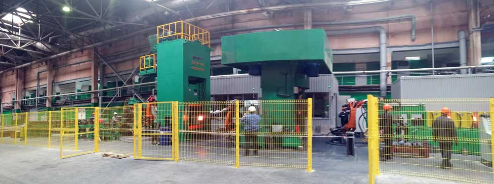 automatic forging production line with Anyang electric screw forging press