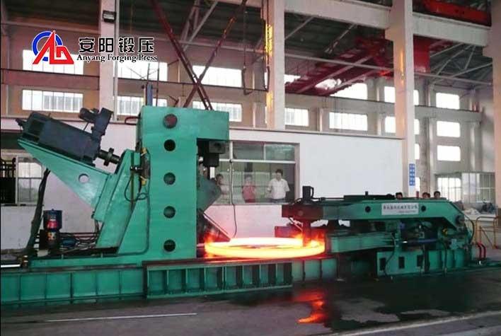 ring rolling machine for gear forging
